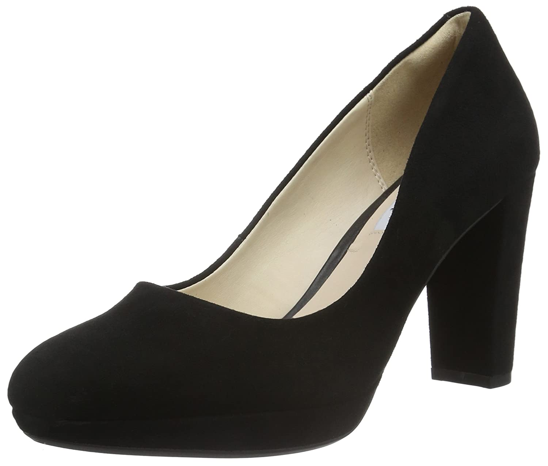 Clarks Kendra Sienna, Zapatos de Tacón para Mujer 38 EU|Negro (Black Suede)