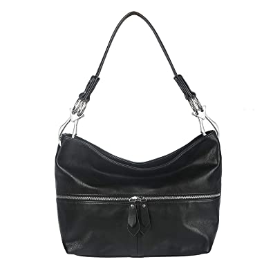 3b3376968a Handbags for Women Hobo Shoulder Bags PU Leather with Big Snap Hook Hardware  and Zipper Pocket