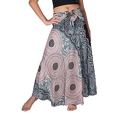 00a05a56dd Amazon.com: Paymenow Bohemian Skirts, 2018 Hot Sale Women Gypsy Hippie High  Waist Lace up Beach Skirt Vintage Long Maxi Skirt: Clothing