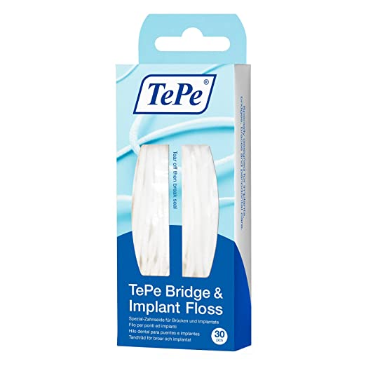 Tepe Bridge and Implant Floss - 30 Pack Flosses at amazon