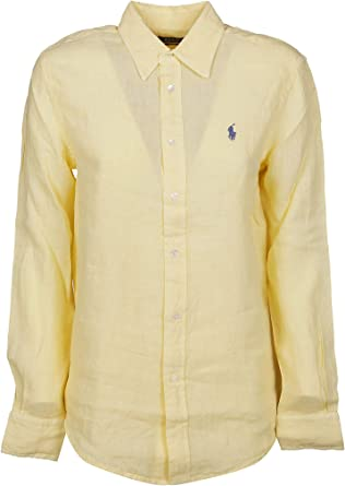 Ralph Lauren Luxury Fashion Mujer 211732637006 Amarillo Camisa | Temporada Outlet: Amazon.es: Ropa y accesorios