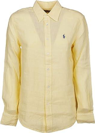 Ralph Lauren Luxury Fashion Mujer 211732637006 Amarillo Camisa | Temporada Outlet: Amazon.es: Ropa y accesorios