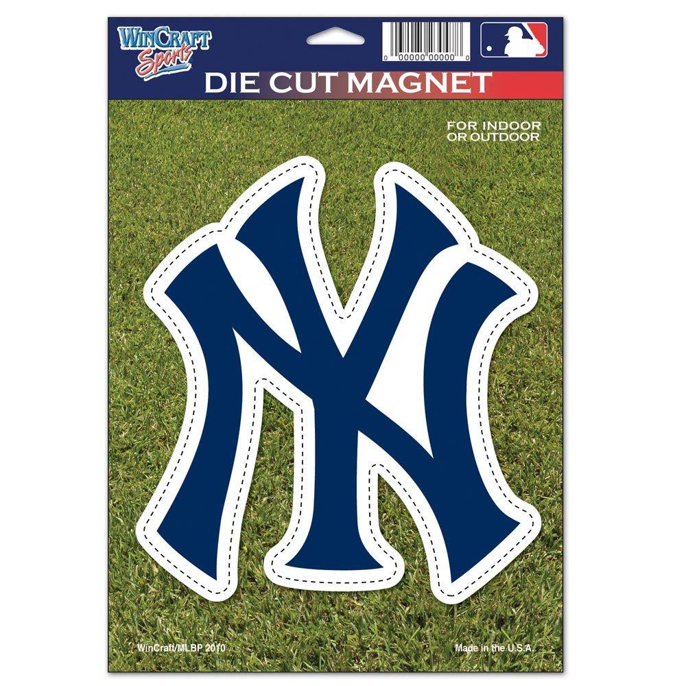 WinCraft MLB New York Yankees 79731010 Die Cut Logo Magnet, Small, Black