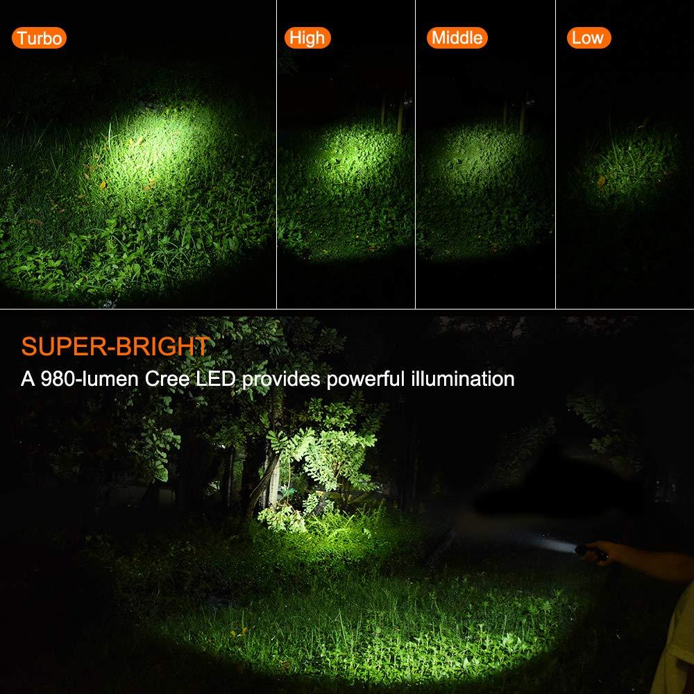 ORCATORCH Tactical Policía linterna T20 980 lm luz mano linterna Policía linterna: Amazon.es: Deportes y aire libre