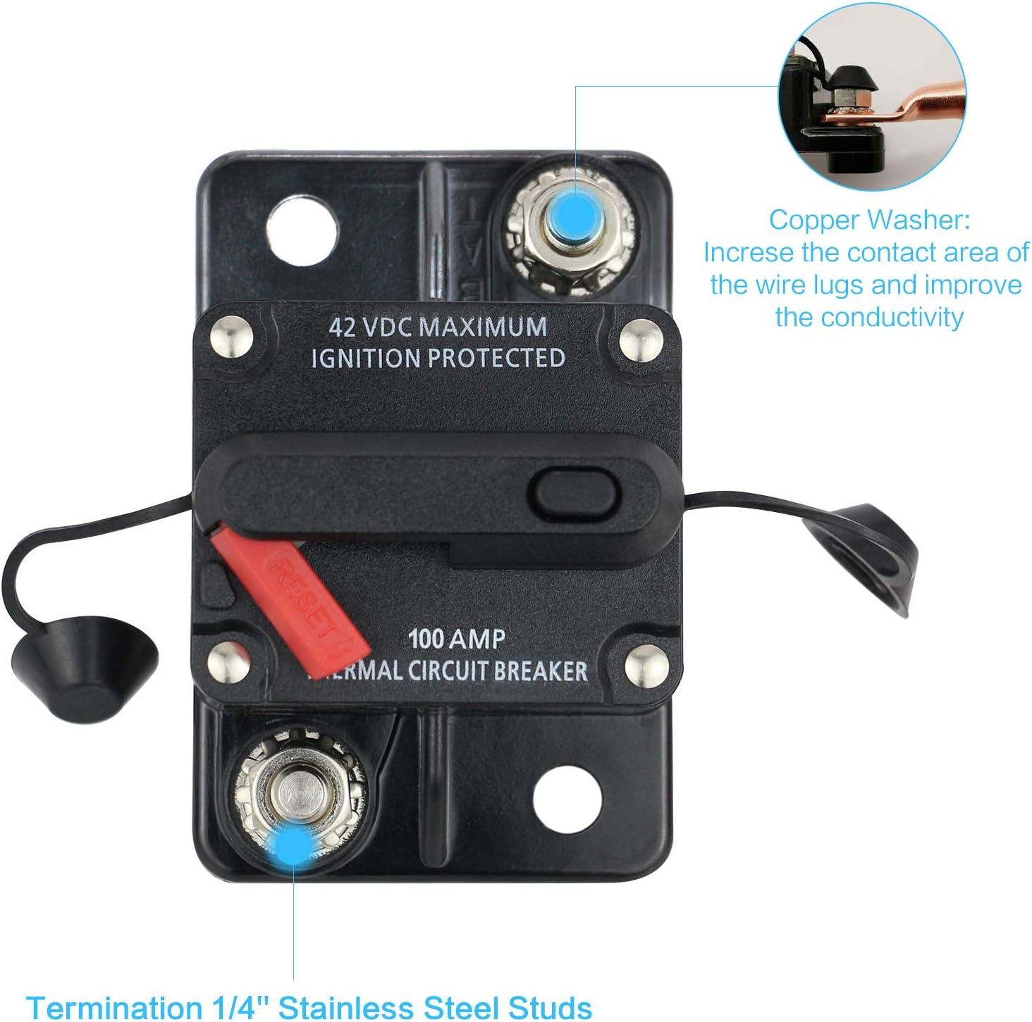 Harmony Audio HA-CB150 Car//Marine Stereo Manual Reset 150 Amp Circuit Breaker 12 Volt