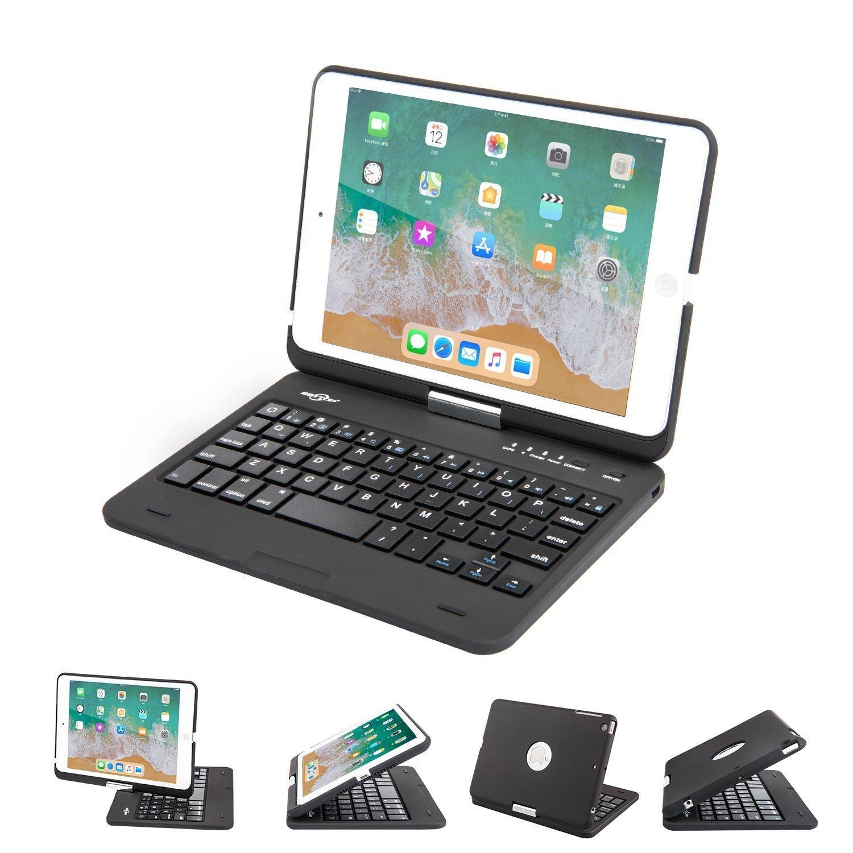 BATTOP iPad Mini Keyboard - Swivel 360 Degree Rotatable Bluetooth Keyboard Case - iPad Mini Bluetooth Keyboard - Compatible ipad Mini 3/iPad Mini 2/iPad Mini -black