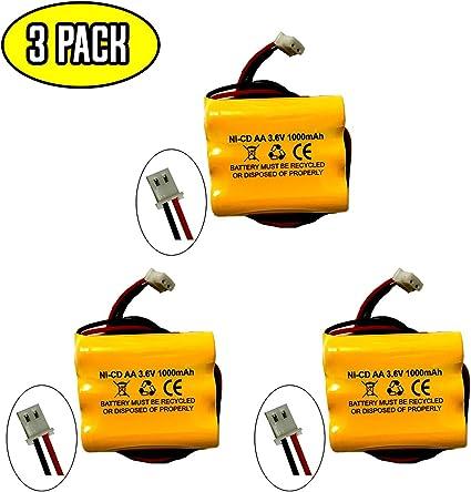 Pack de bater/ía 3,6V//1500mAh Ni-Cd.