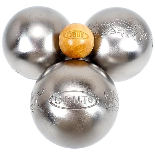 Obut Loisir inox TATOU, jeu de 3 boules: Amazon.fr: Sports et Loisirs