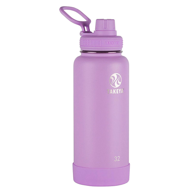 Purplec 32 oz Takeya 51242 Actives Insulated Stainless Steel Bottle w Spout Lid 32oz purplec