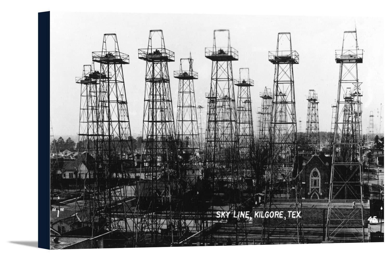 Kilgore、テキサス – スカイラインの町の写真 36 x 21 1/4 Gallery Canvas LANT-3P-SC-32252-24x36 B0184ATIA0  36 x 21 1/4 Gallery Canvas