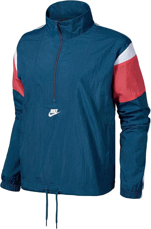 Típico Parpadeo expedición  Amazon.com: Nike Women's Sportswear Woven Heritage Wind Jacket CJ2361-432  Size S: Clothing