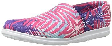 Reebok Women's Skyscape Harmony Walking Shoe, Blazing Pink/Blue Pool/White/ Botanical