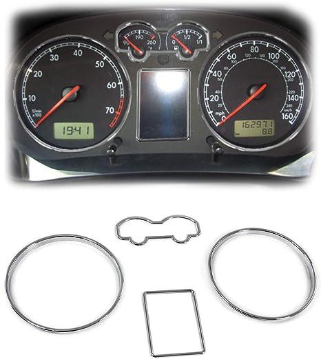 Carparts Online 30012 Tachoringe Abdeckungen Blenden 3 Teilig Chrom Auto