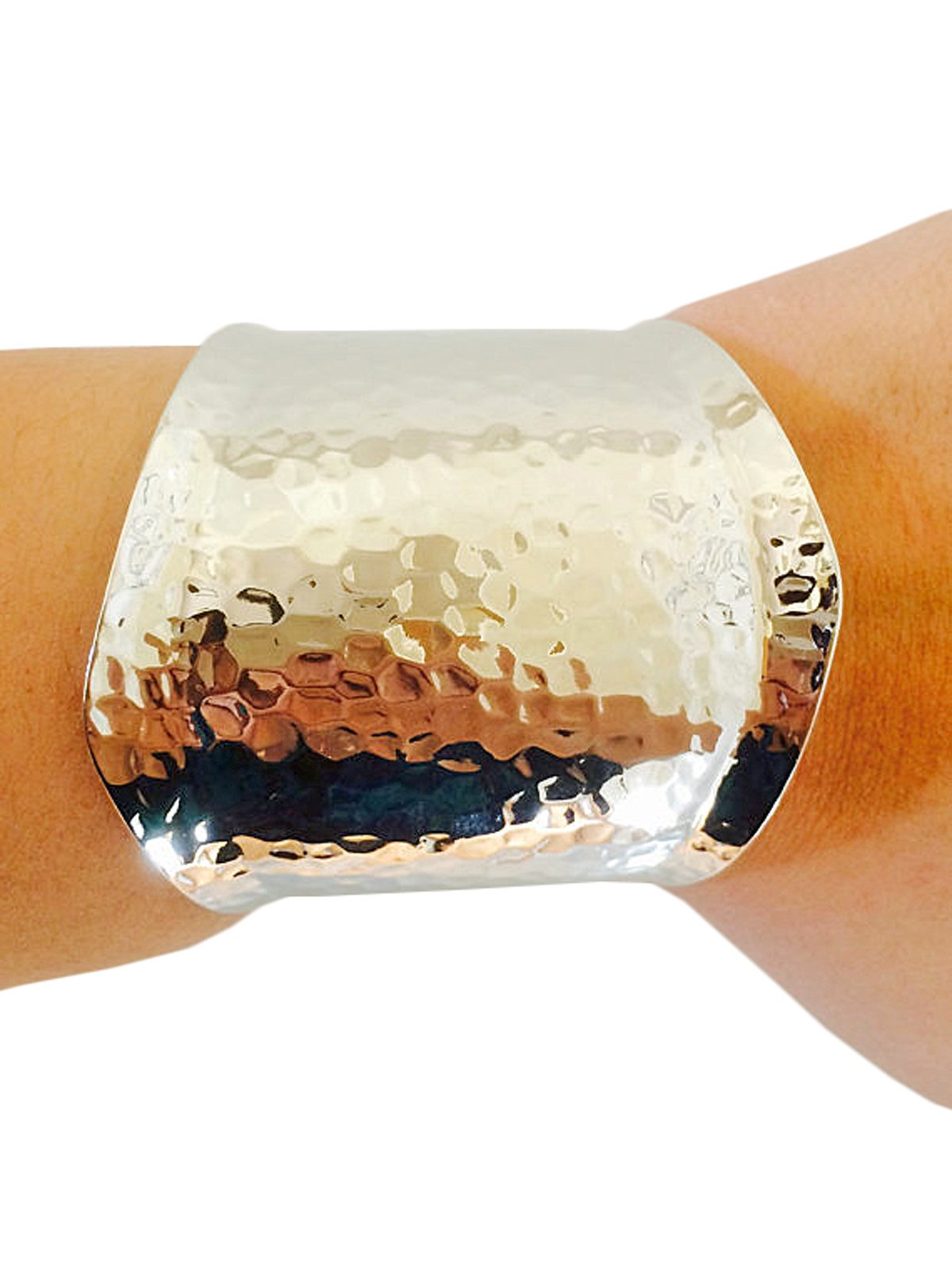 Fitbit Bracelet for Fitbit Flex - The LAURA Hammered Silver Cuff Fitbit Bracelet