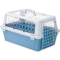 Ferplast Atlas 10Trendy Open Panier de Transport für Katzen/Hunde, zweifarbig Blau/Grau