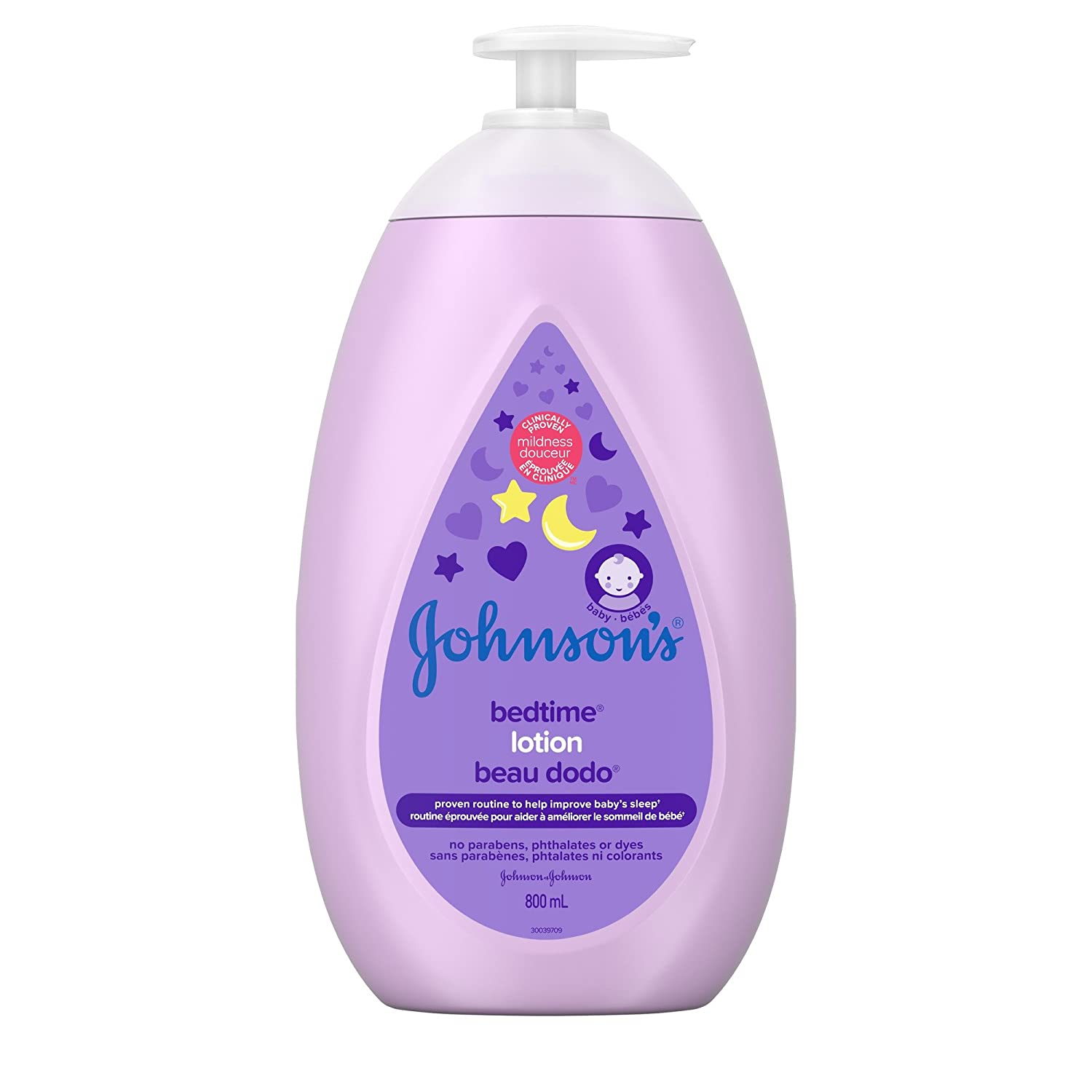 Johnson's Baby Bedtime Moisturizing Lotion and Cream for Dry Skin, 2x800mL Johnson and Johnson