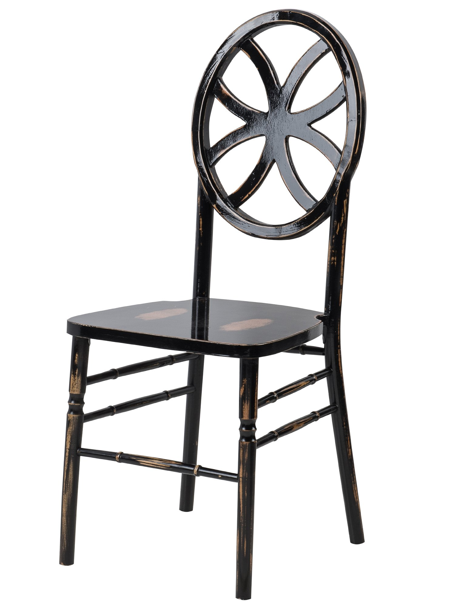 CSP Events W-440-VR-LBW Veronique chairs series (Clover), 38.75'' Height, 16'' Width, 16'' Length, Lime Black Wash