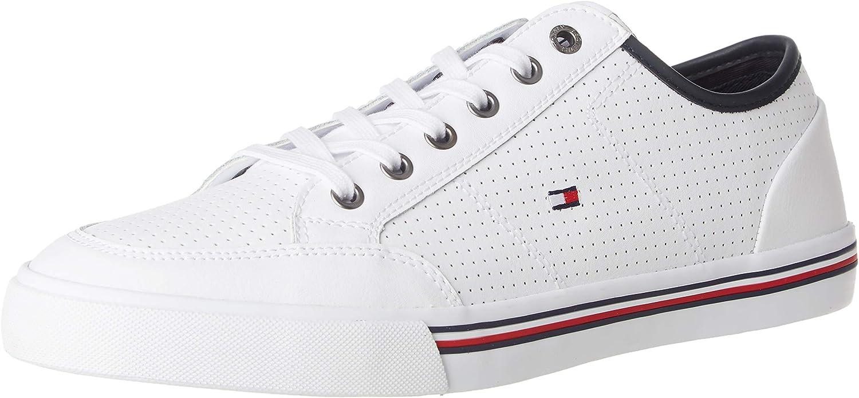 Tommy Hilfiger Core Corporate Leather Sneaker, Zapatillas para Hombre