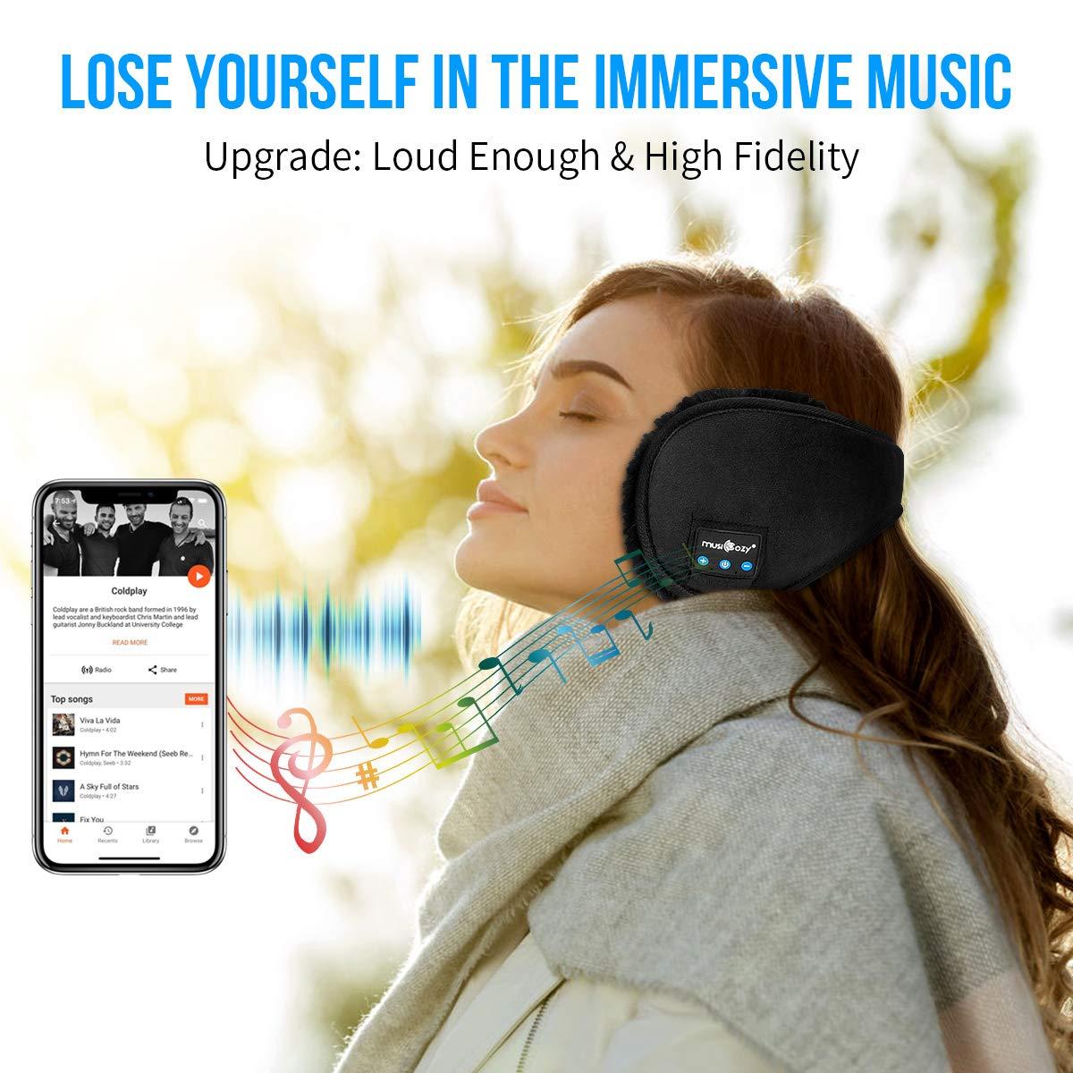 Bluetooth Ear Warmers Ear Muffs For Winter Women Men Kids Girls Musicozy Bluetooth Earmuffs Headphones Unique Tech Top Gadgets Travel Cool Birthday Gifts Dad Mom Her Him Teen Boys Girls Adults
