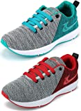 Ethics Best Combo of 2 Sea Green & Red Air Breathing Running Sports Shoes for Men