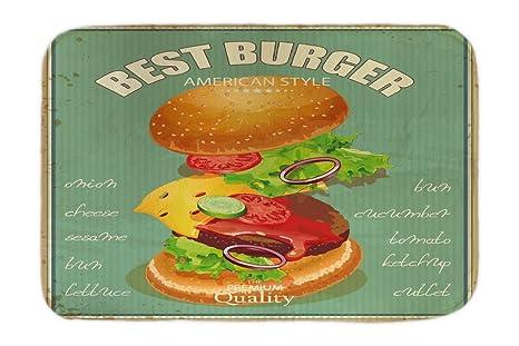 Cama Perro Retro Mejores hamburguesas impreso 40x60 cm