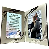 Best First Year Anniversary Gifts, Happy 1st Anniversary Silver Double Frame Gift 4x6 - Christmas, Birthdays, Valentine's Day - Just Add A Photo by Words Matter Gifts