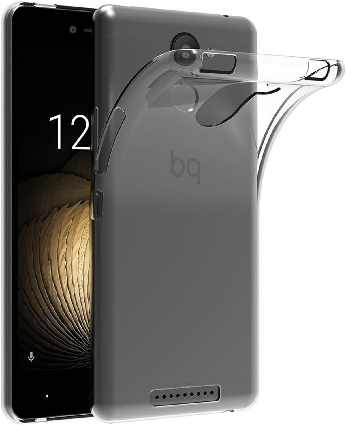 TBOC 2X Funda de Gel TPU Transparente para bq Aquaris U Plus (5.0 ...