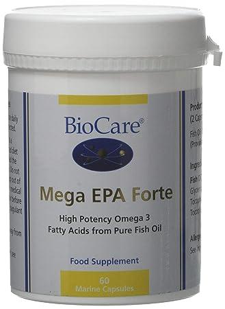 Biocare Mega Epa Forte Omega 3 Fish Oil 60 Capsules Amazon Co