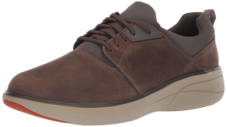 Clarks Uomo Un Rise Lo scarpe da ginnastica, Taupe Leather, 090 M US