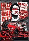 """Ata-Boy Batman v Superman Dawn of Justice Superman False God 2.5"""" x 3.5"""" Magnet for Refrigerators and Lockers"""