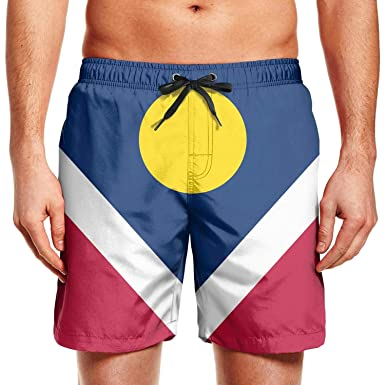 fe460272c3 Colorado State Flag Poster Mens Swimming Shorts Vintage Swim Trunks Solid  Board Beach Shorts Swimsuits for Men | Amazon.com
