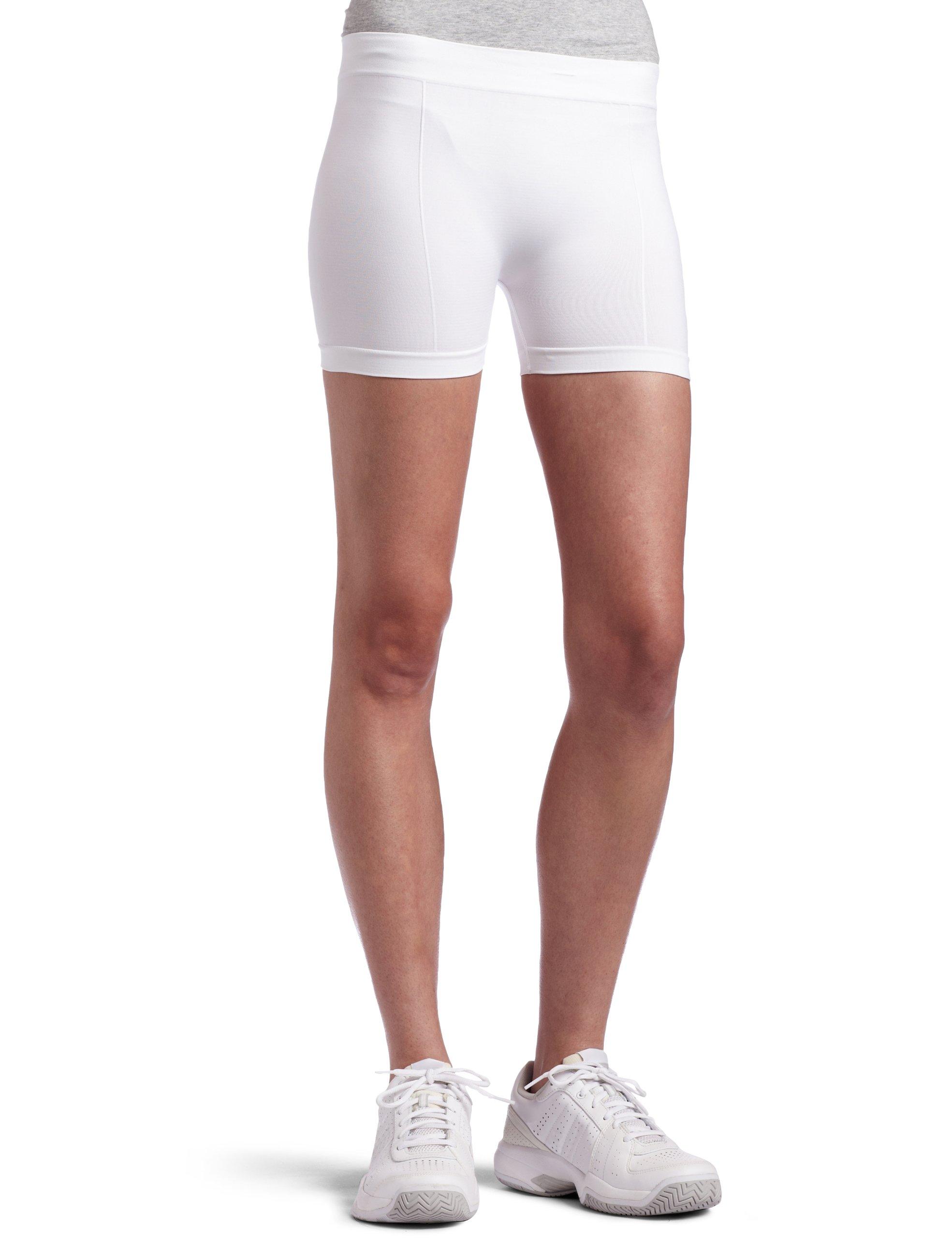 Bollé Women's Solid Panel Seamless Tennis Short, White, X-Small