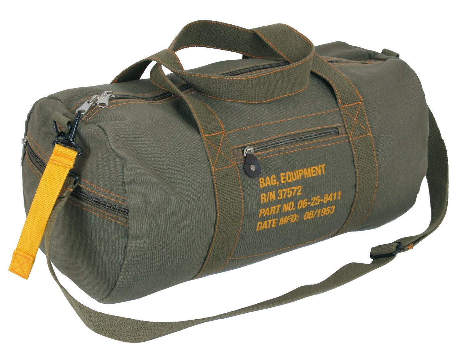 Rothco Canvas Equipment Bag, Olive Drab