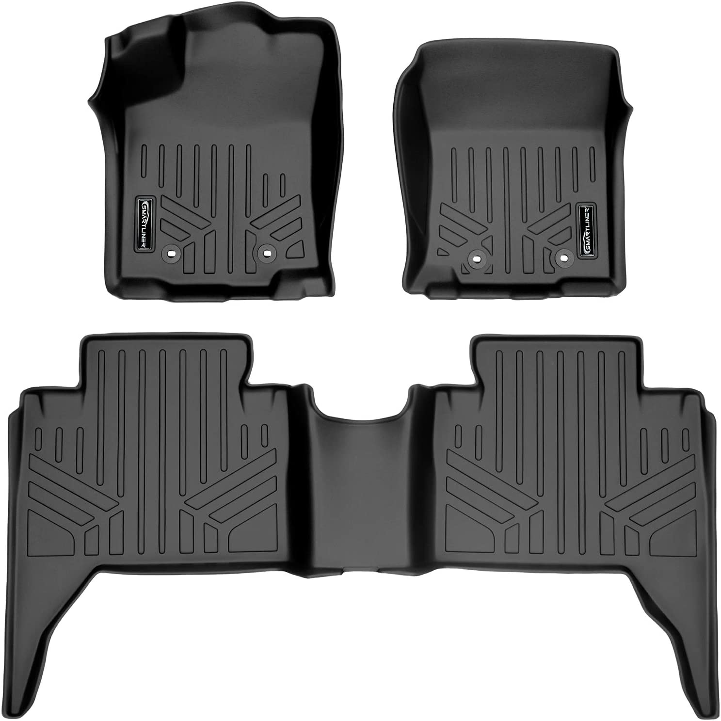 YITAMOTOR Floor Mats Compatible with Tacoma Double Cab Custom Fit Floor Liners for 2018-2020 Toyota Tacoma 1st /& 2nd Row All Weather Protection
