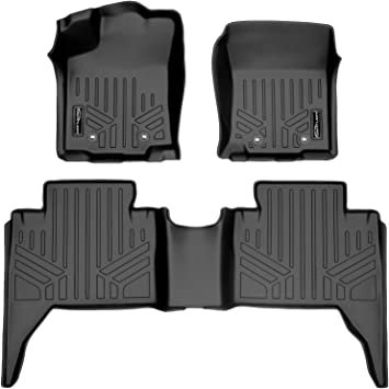 All Weather Protection Custom Full Set Liners Include 1st and 2nd Row Front /& Rear Black Car Liners Double cab,only auto VIWIK Floor Mats for 2018-2021 Tacoma