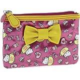 Hello Kitty By Camomilla - Trousse plate Cri Cri Bon Bon Rose et Jaune - Accessoire de Mode Neuf