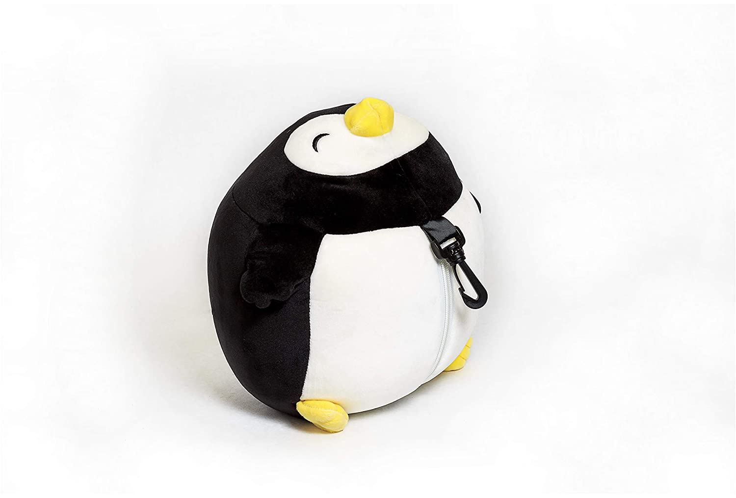 Moaly Zip and Flip U Shaped Head Support Neck Comfort Penguin Travel Pillow White