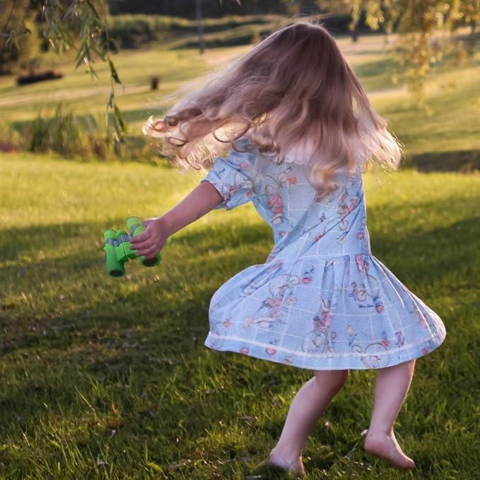 Educational Learning Toys for Boys and Girls Outdoor Play Hawkeye Shock Proof 8x21 Kids Binoculars Set Birthday Presents Bird Watching