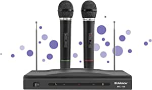 Defender Wireless Microphones set MIC-155 Black radio 87-92 MHz