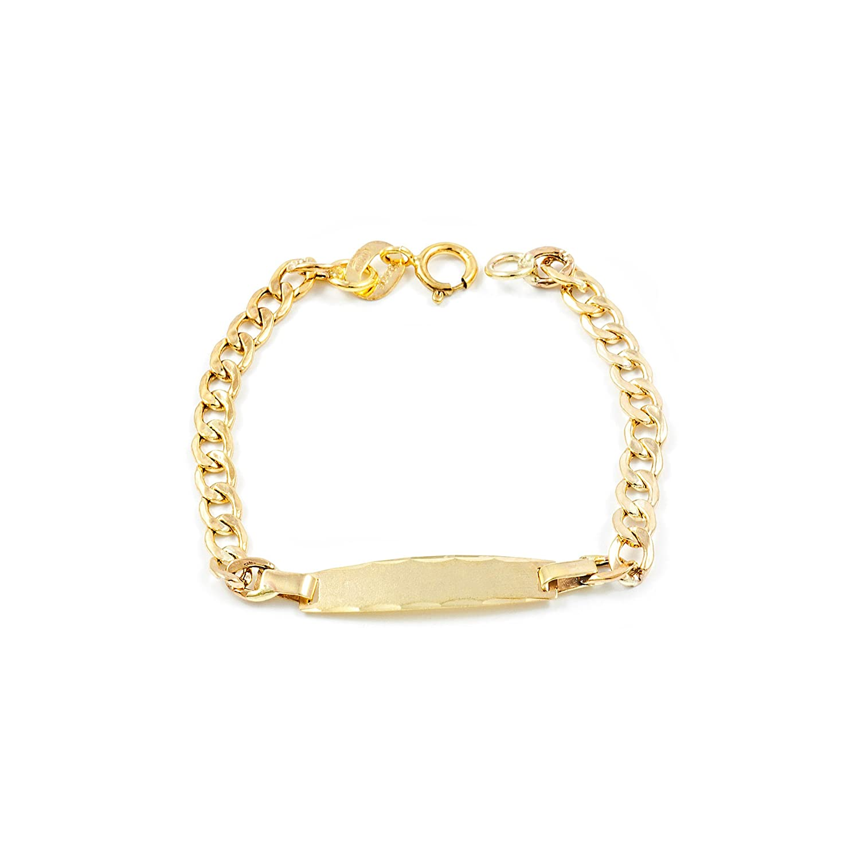 9ct Yellow Gold Baby Bracelet Mondepetit G1314PU9K