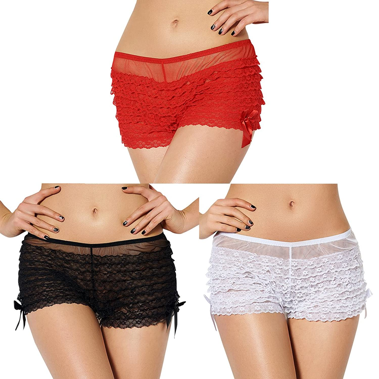 slocyclub Lovely Women Ruffle Layered Ladies Underwear's