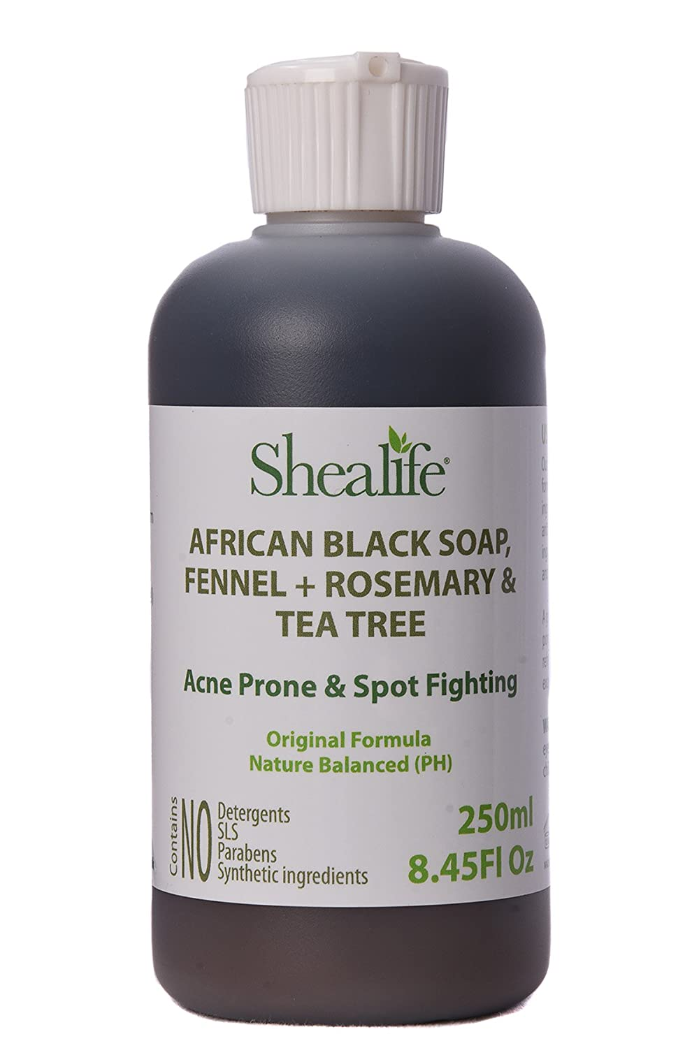 African Black Soap Liquid, 250ml, Fennel, Rosemary & Tea Tree Oil. Teenage Face wash Acne Prone & Spot Fighting Formula, Facial Cleanser, Face Spots, Pimples, Acne, Facial Wash, Moisturising Formula Contains No SLS, Detergents & Parabens. Ideal for very Se
