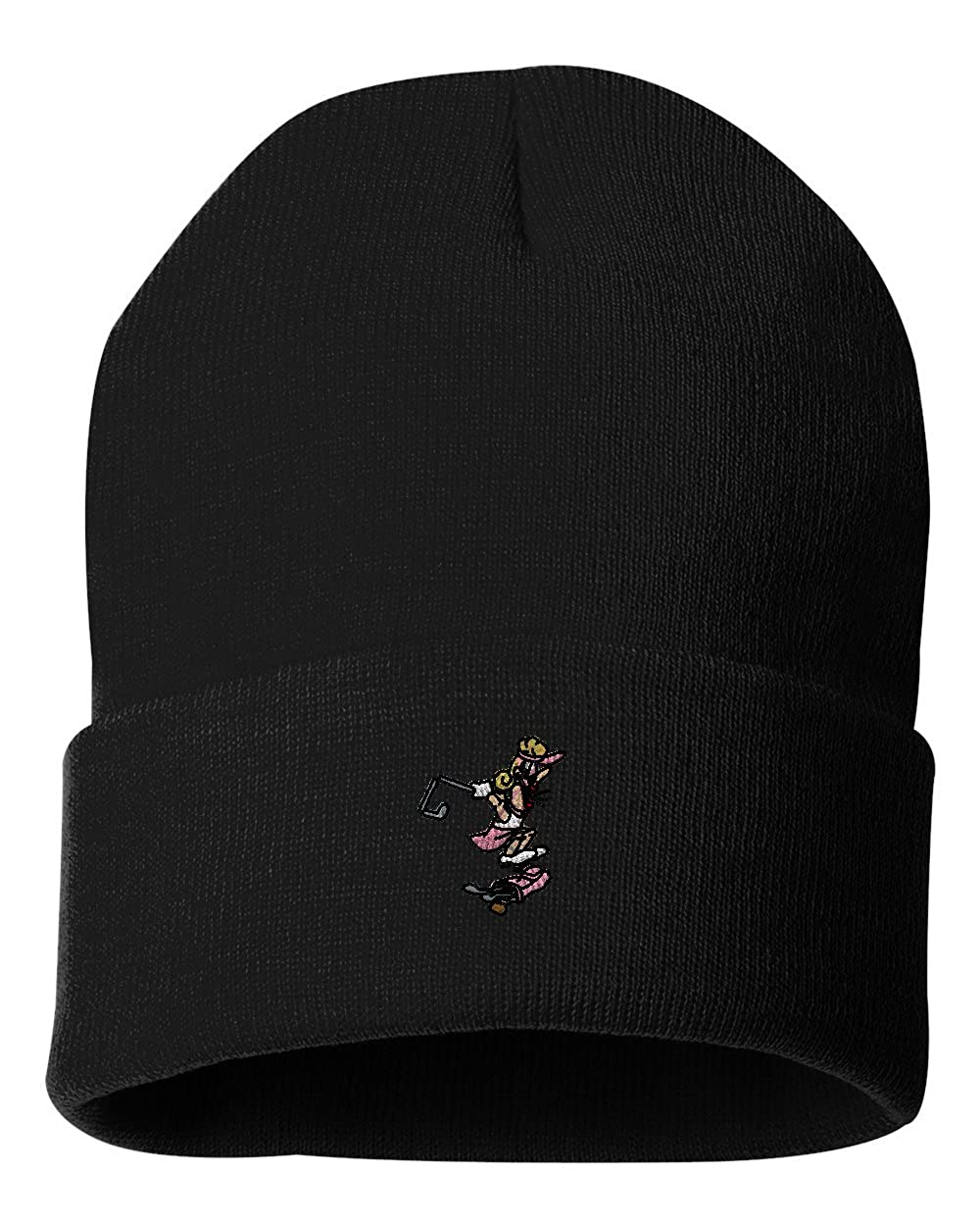 Mad Female Golfer/ Custom Personalized Embroidery Embroidered Beanie