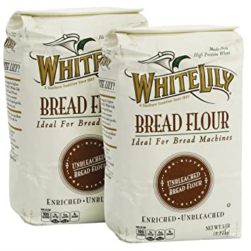 Amazon Com White Lily Bread Flour 5 Lb Bags 2 Pack Grocery