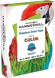 Hammermill Printer Paper, Premium Color 28 lb Copy Paper, 8.5 x 11 - 1 Ream (500 Sheets) - 100 Bright, Made in the USA