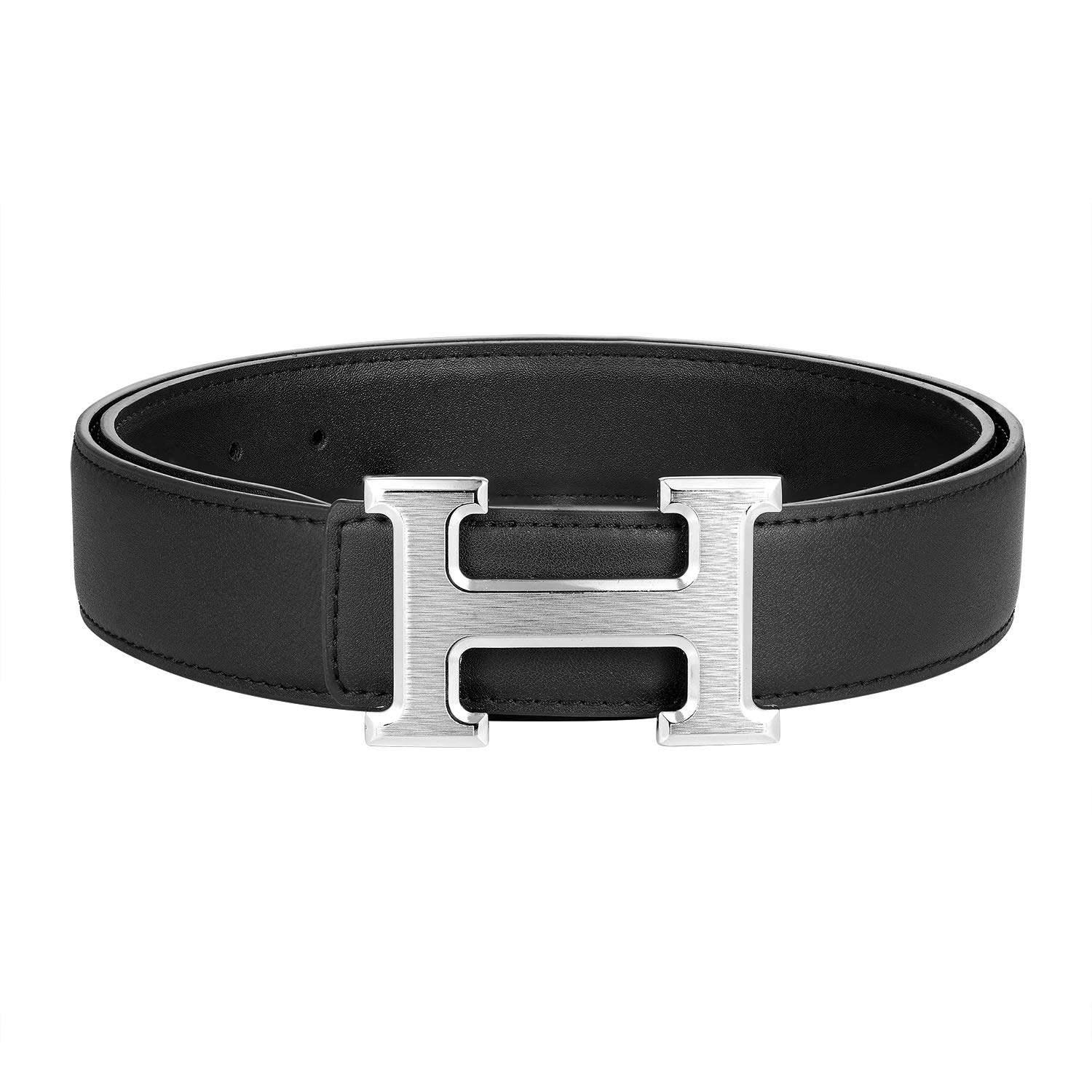 Fashion Leather Metal Buckle Unisex Women Men Belt Casual Business Beltteen s12-1-belt
