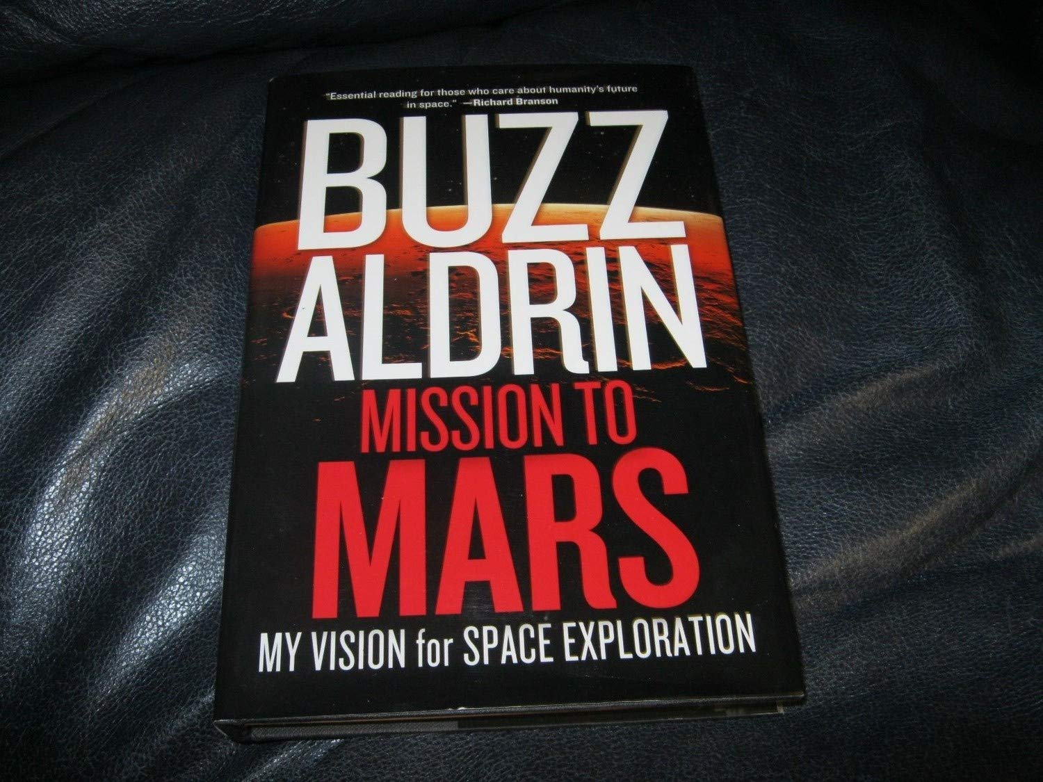 Buzz Aldrin Autographed Signed mission To Mars Book Beckett Authentic