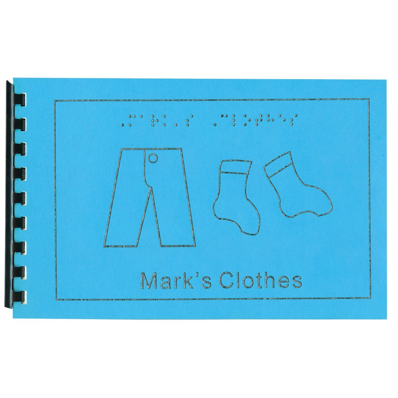 Childrens Braille Book - Clothes by MaxiAids