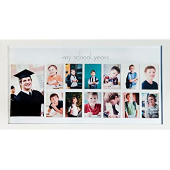Amazon.com - Green Pollywog School Years Picture Day Collage Frame ...