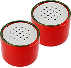 Cornucopia Fruit Fly Traps (2-Pack); Empty Ceramic Fly Catchers with Vented Lids; Bait NOT Included